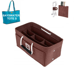 Mulberry BAYSWATER TOTE S Organizer GIFTS INCLUDED : Cable Holders+Lipstick Holders / Mini Wallet[Chocolat Brown]