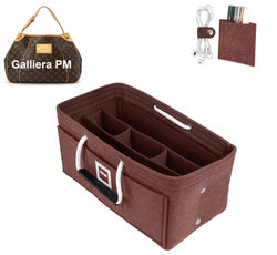 LV GALLIERA PM Organizer GIFTS INCLUDED : Cable Holders+Lipstick Holders / Mini Wallet[Chocolat Brown]