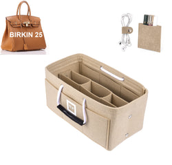 Hermès Birkin 25 Organizer GIFTS INCLUDED : Cable Holders+Lipstick Holders / Mini Wallet[Maldives Sand]