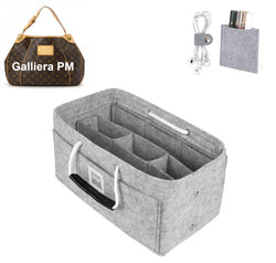 LV GALLIERA PM Organizer GIFTS INCLUDED : Cable Holders+Lipstick Holders / Mini Wallet[Cement Gray]