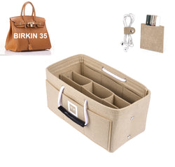 Hermès Birkin 35 Organizer GIFTS INCLUDED : Cable Holders+Lipstick Holders / Mini Wallet[Maldives Sand]