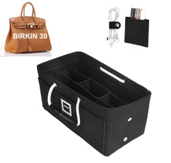 Hermès Birkin 30 Organizer GIFTS INCLUDED : Cable Holders+Lipstick Holders / Mini Wallet[Charcoal Black]