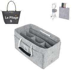LONGCHAMPS LE PLIAGE S Organizer GIFTS INCLUDED : Cable Holders+Lipstick Holders / Mini Wallet[Cement Gray]