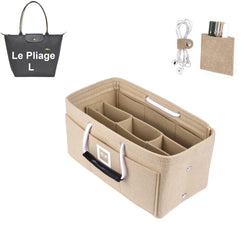 LONGCHAMPS LE PLIAGE L Organizer GIFTS INCLUDED : Cable Holders+Lipstick Holders / Mini Wallet[Maldives Sand]