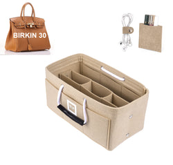 Hermès Birkin 30 Organizer GIFTS INCLUDED : Cable Holders+Lipstick Holders / Mini Wallet[Maldives Sand]