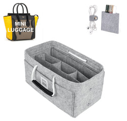 CÉLINE Mini Luggage Organizer GIFTS INCLUDED : Cable Holders+Lipstick Holders / Mini Wallet[Cement Gray]