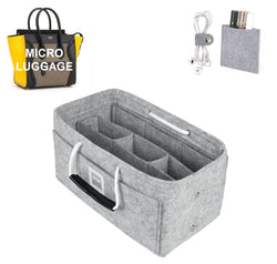 CÉLINE Micro Luggage Organizer GIFTS INCLUDED : Cable Holders+Lipstick Holders / Mini Wallet[Cement Gray]