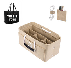 Mulberry TESSIE TOTE Organizer GIFTS INCLUDED : Cable Holders+Lipstick Holders / Mini Wallet[Maldives Sand]