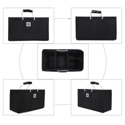 Keepall 55 Organizer GIFTS INCLUDED : 2Cable Holders+2 Lipstick Holders / Mini Wallet [Charcoal Black]