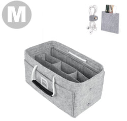Cement Gray Medium GIFTS INCLUDED : Cable Holders+Lipstick Holders / Mini Wallet[24x14x14cm]