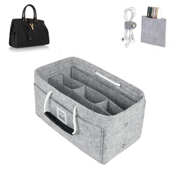 SAINT LAURENT Cabas medium  Organizer GIFTS INCLUDED : Cable Holders+Lipstick Holders / Mini Wallet[Cement Gray]