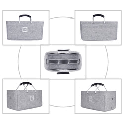 Hermès Maxibox Cabas 36 Organizer GIFTS INCLUDED : Cable Holders+Lipstick Holders / Mini Wallet[Cement Gray]