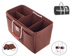 Keepall 55 Organizer GIFTS INCLUDED : 2Cable Holders+2 Lipstick Holders / Mini Wallet [Chocolate Brown]