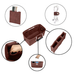 Chocolat Brown Large GIFTS INCLUDED : Cable Holders+Lipstick Holders / Mini Wallet[28x15x15cm]