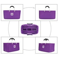 Hermès Maxibox Cabas 30 Organizer GIFTS INCLUDED : Cable Holders+Lipstick Holders / Mini Wallet[Violet Orchid]