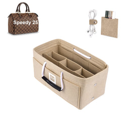 LV SPEEDY 25 Organizer GIFTS INCLUDED : Cable Holders+Lipstick Holders / Mini Wallet[Maldives Sand]