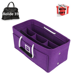 Hermès Bolide 35 Organizer GIFTS INCLUDED : Cable Holders+Lipstick Holders / Mini Wallet[Violet Orchid]