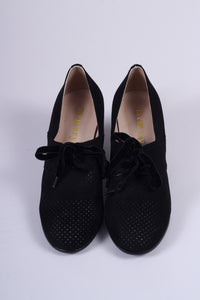 VEGAN - 1940'er vintage style pumps med snøre - Sort - Esther