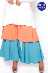 Ruffle Color Block Pant