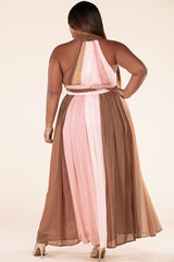 Ever-Pretty Taupe Pink Maxi