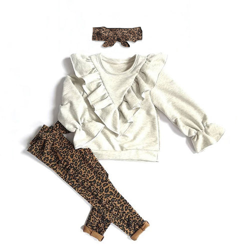 Long Sleeve Ruffle Sweatshirt Set
