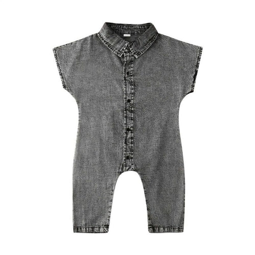Washed Black Denim Playtime Jumpsuit