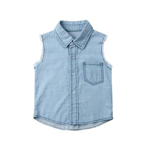 Young, Cool and True Denim Top