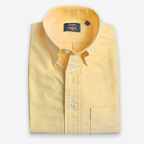 M Crest by Gitman Bros Button Down Oxford Yellow