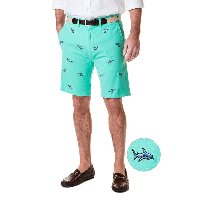Castaway Cisco Short Stretch Twill Palm with Shark