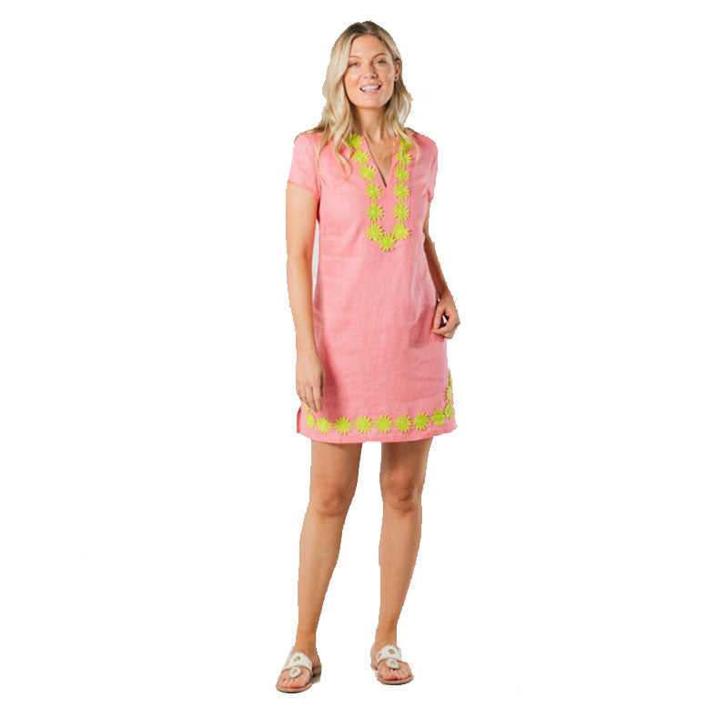 Sail to Sable Classic Tunic Dress Coral