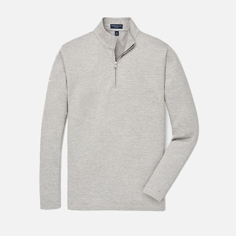 Peter Millar Collection Charlton Long-Sleeve Cotton-Silk Quarter-Zip Argento