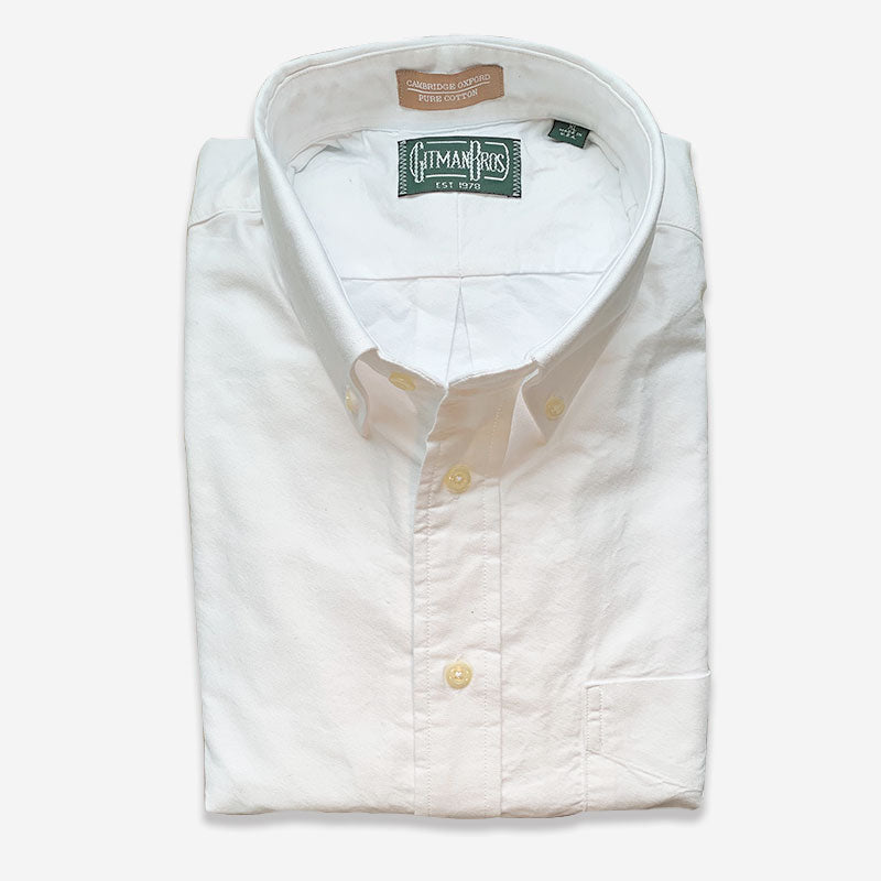 Gitman Bros Button Down Oxford White