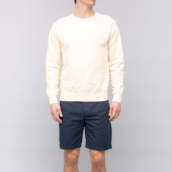 Save Khaki United Long Sleeve Supima Crew Sweatshirt Pale Yellow