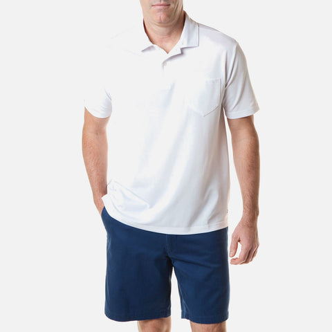 Castaway Salt Spray Polo - White