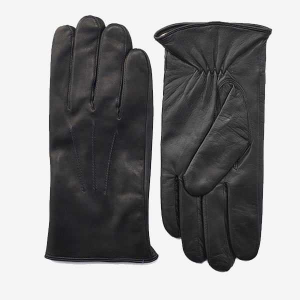 Daines & Hathaway Men's Nappa Leather Gloves - Three Point Black