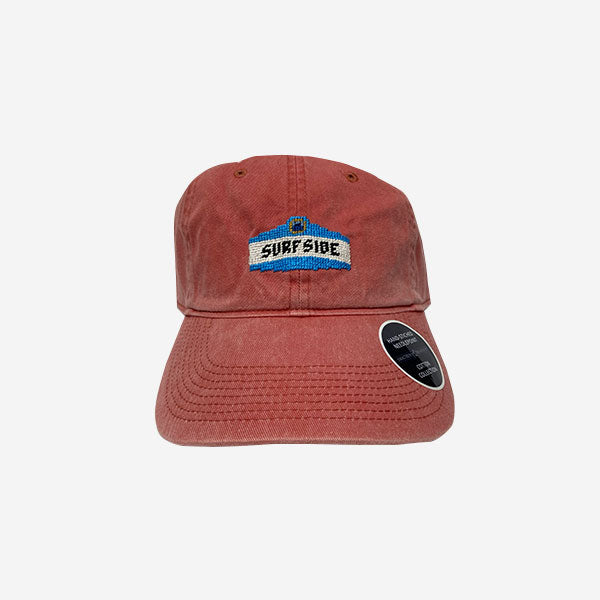 Smathers & Branson Surfside Town Sign Nantucket Red® Needlepoint Hat