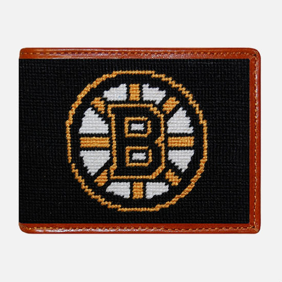 Smathers & Branson Boston Bruins Needlepoint Bifold Wallet