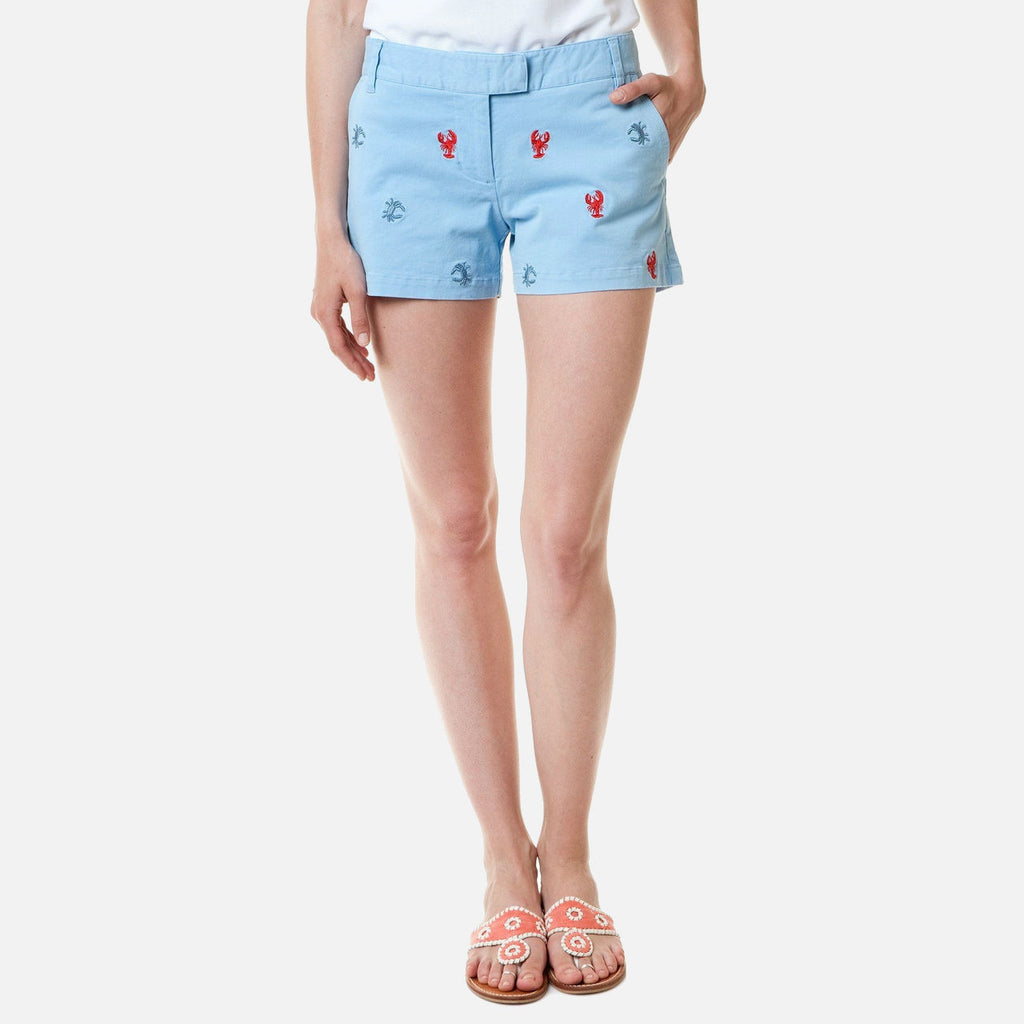 Castaway Sailing Short - Liberty With Lobster And Crab