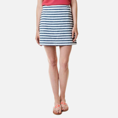 Castaway Ali Skirt - Atlantic With White Stripe 17""