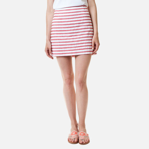 Castaway Ali Skirt - Hurricane Red With White Stripe 17""