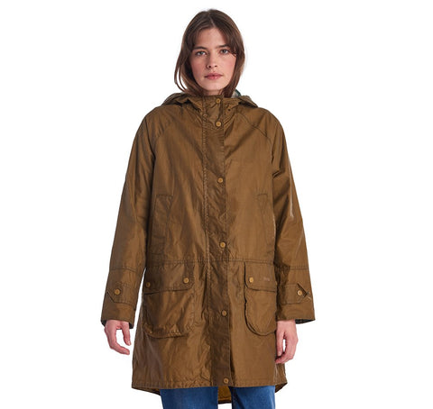 Barbour Maddison Wax Cotton Jacket Sand