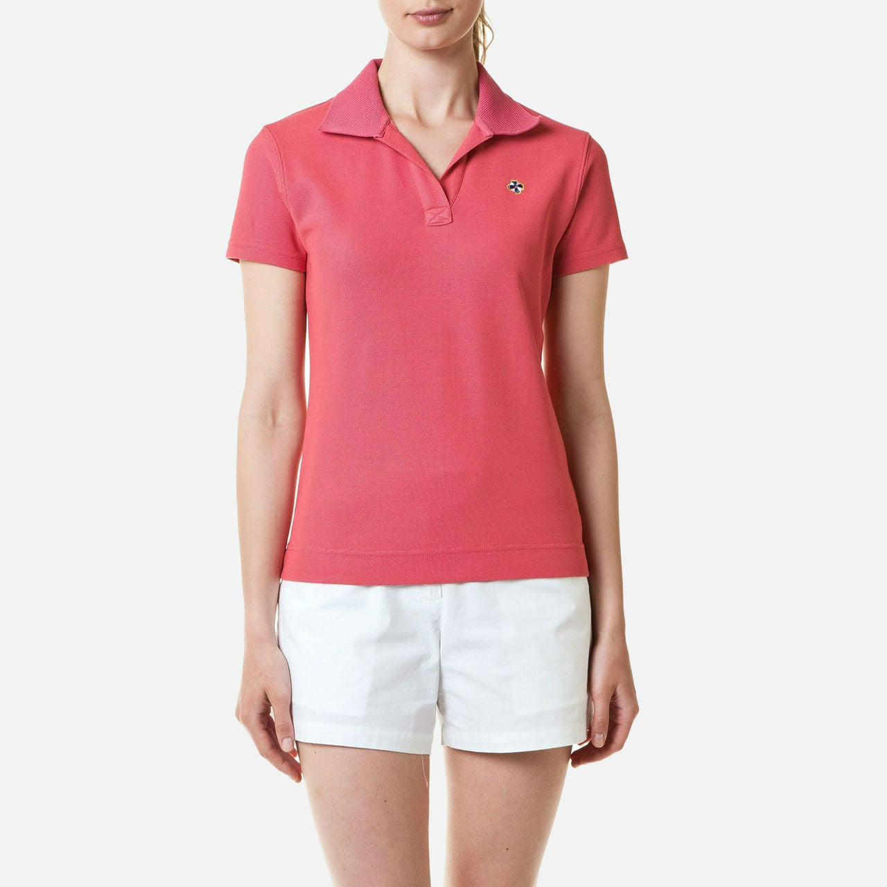 Castaway Islander V-Neck Polo - Hurricane Red