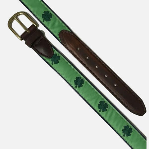 YRI Men's Ribbon Belt - Shamrocks