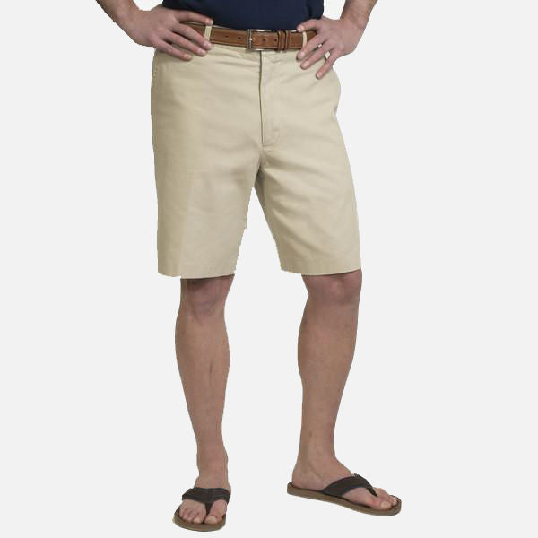 Nantucket Reds Collection™ Men's Plain Front Bermuda Shorts - Khaki