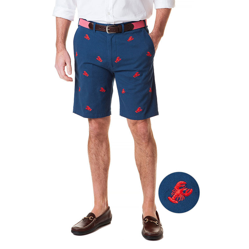 Castaway Cisco Short Stretch Twill Nantucket Navy with Lobster