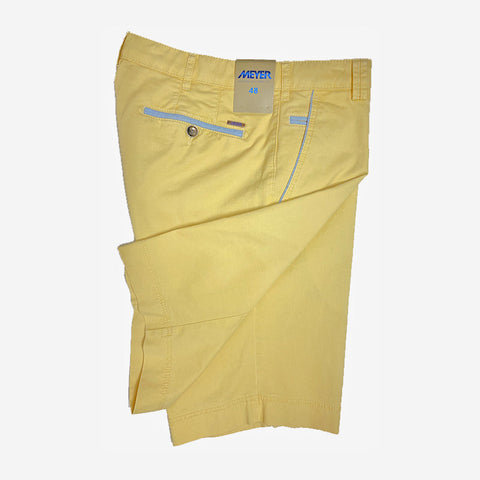 Meyer B-Palma Cotton Stretch Bermuda Shorts Soft Yellow