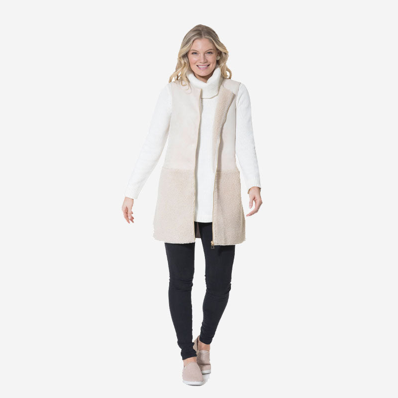 Sail to Sable Long Vest Camel