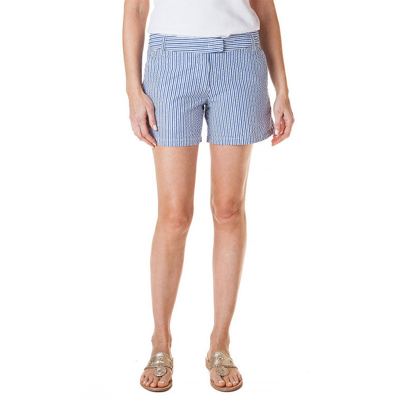 Castaway Ladies Crew Short Seersucker