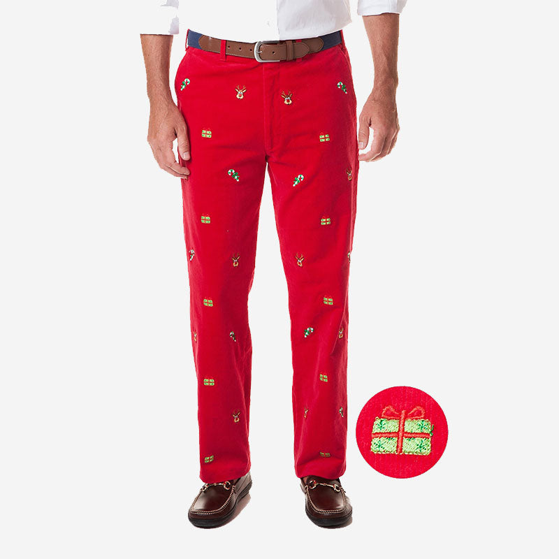 Castaway Beachcomber Corduroy Pant Crimson with Xmas Delivery