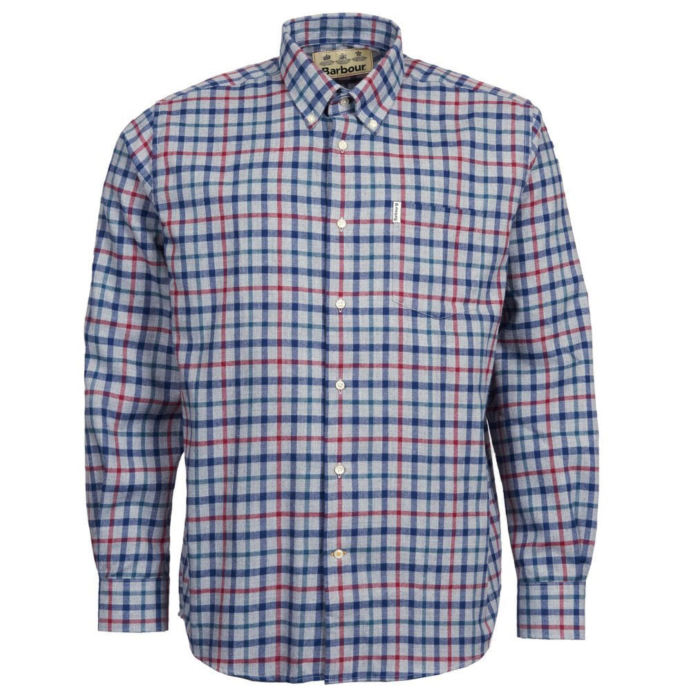 Barbour Thermo-Tech Coll Shirt Grey Marl